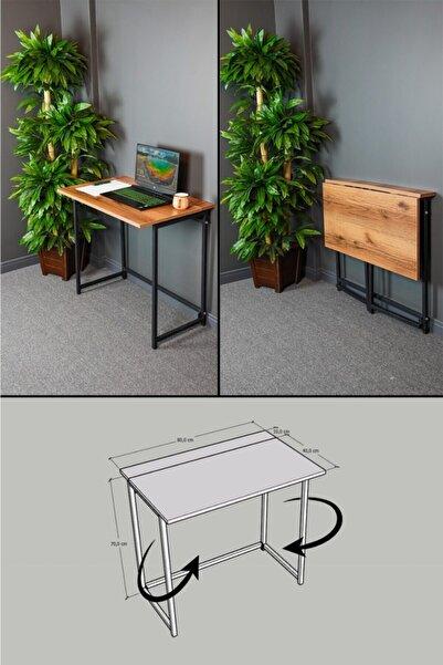 CMKStore Katlanır Çalışma Masası 50 X 80 Cm Bilgisayar Laptop Mutfak Katlanır Masa