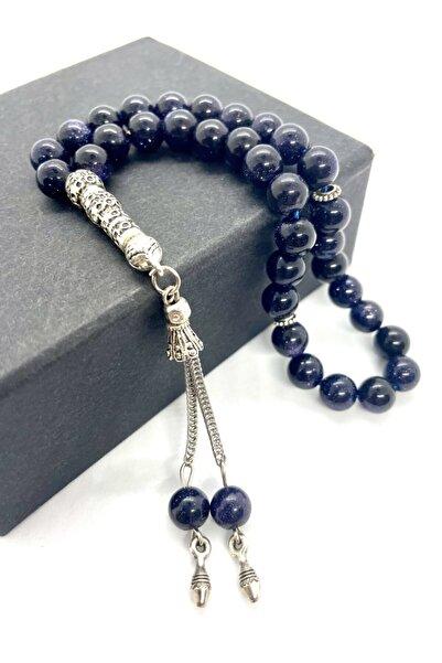 AgateStones Doğal Mavi Yıldız Taşı Tesbih