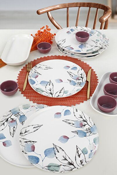 Keramika Leaf Kahvaltı Takımı 14 Parça 6 Kişilik