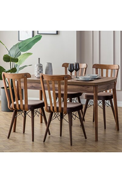 Eymense Fergana 4 Sandalyeli Mutfak Masa Takımı