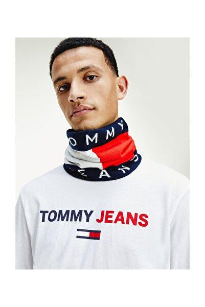Tommy Hilfiger Unisex Mavi Atkı Tommy Jeans Flag Snood AU0AU01170