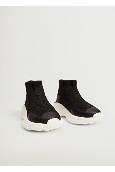 MANGO Baby Bebek Siyah Boğazlı Elastik Spor Ayakkabı