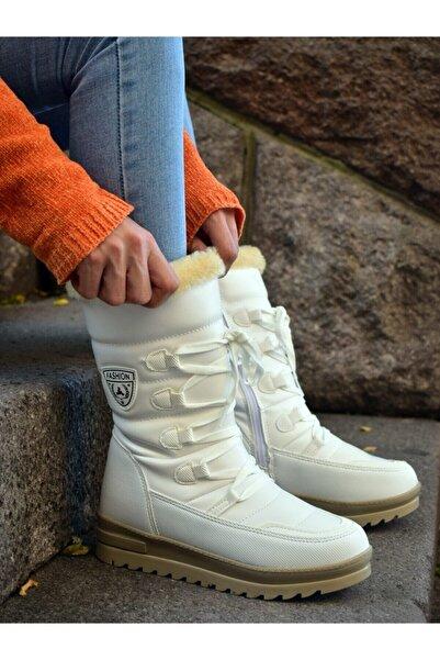 MORENİCA Kadın Beyaz Kar Botu