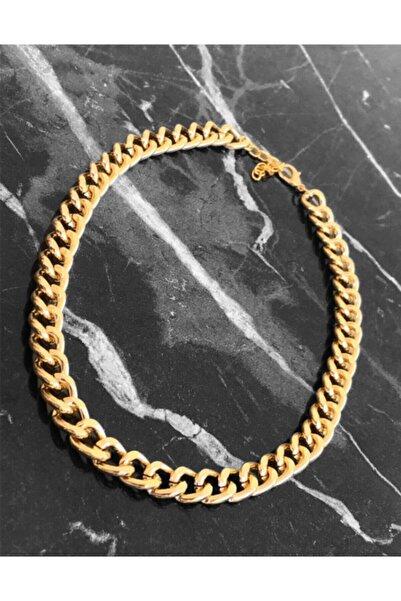 Chance Accessories Kadın Kalın Gourmet Zincir Gold Kolye