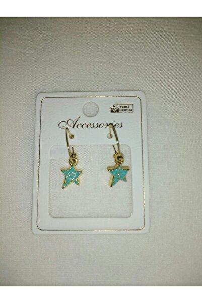 Accessories Şenkal Aksesuar Yıldızlı Mavi Küpe