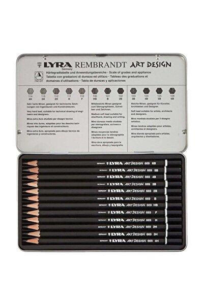LYRA Art Design Dereceli Kurşun Kalem 12 Li Metal Kutu L1111120