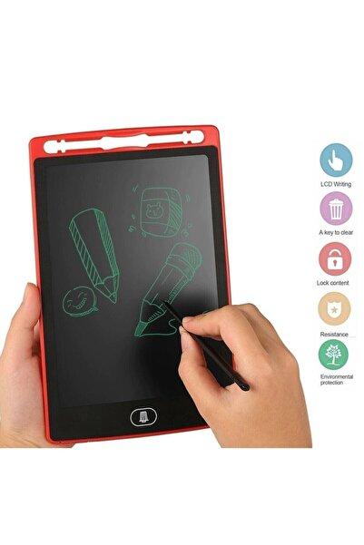 DoğubeyStore Writing Tablet Lcd 8.5inç Dijital Kalemli Çizim Yazı Tahtası Grafik Not Yazma Eğitim Tableti-kırmızı