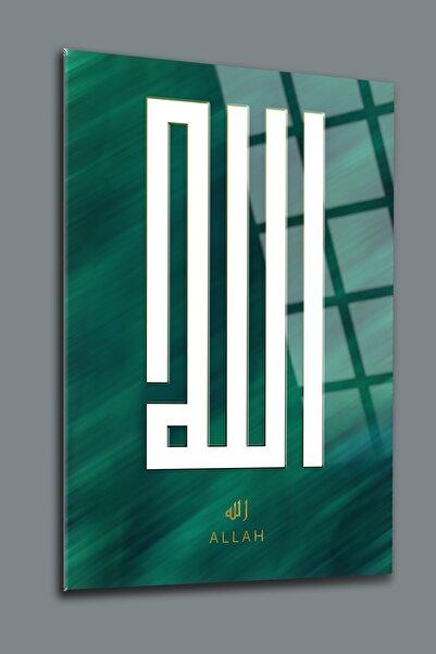 SRD Concept Kufi Allah Yazısı 1 Cam Tablo-dini Tablo-islami Tablo