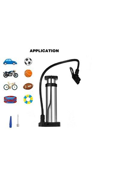 Wiwi Bisiklet Motosiklet Pompa Lastik Hava Şişirme Pompası+top Iğnesi+bot Şişirme Aparatı