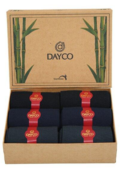 DAYCO Bambu Mevsimlik Premium 6'lı Set (2 Siyah, 2 Lacivert, 2 Füme)