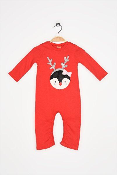 Koton Unısex Bebek Kırmızı Yeni Yil Temali Tulum 0KNG13234OK