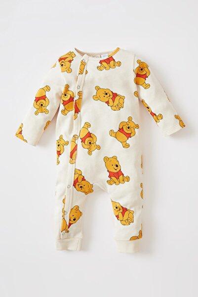 DeFacto Erkek Bebek Winnie The Pooh Lisanslı Uzun Kollu Çıtçıtlı Pamuklu Yeni Doğan Tulum V7653A221WNB