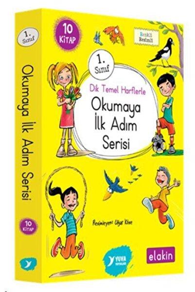 Yuva Yayınları 1. Sınıf ''dik Temel Harflerle'' Okumaya Ilk Adım Serisi (elakin) Yeni Ses Grupları 10 Kitap