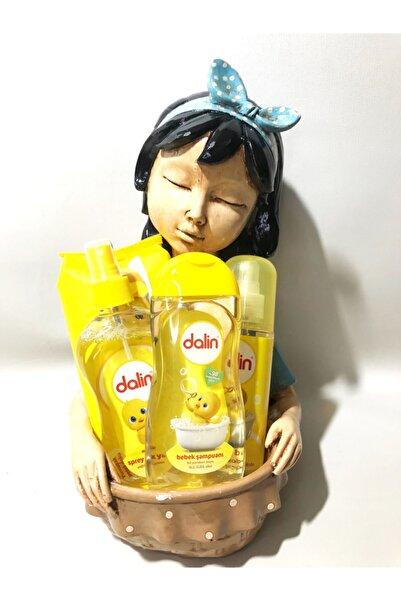 Dalin Yeni Doğan Erkek Bebek Hediye Seti ( Şampuan,kolonya,bebek Yağı Ve Islak Havlu )full Biblolu