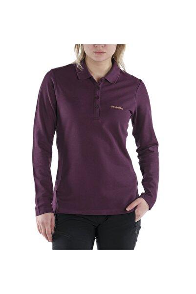 Columbia W Cascade Range Solid Ls Kadın Polo T-shirt