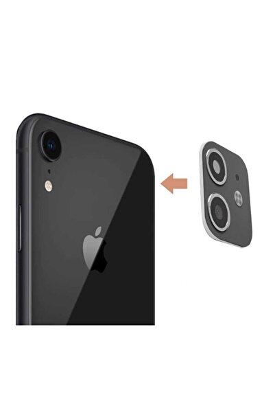 MobilCadde Iphone Xr To Iphone 11 Çeviren Siyah Kamera Koruyucu