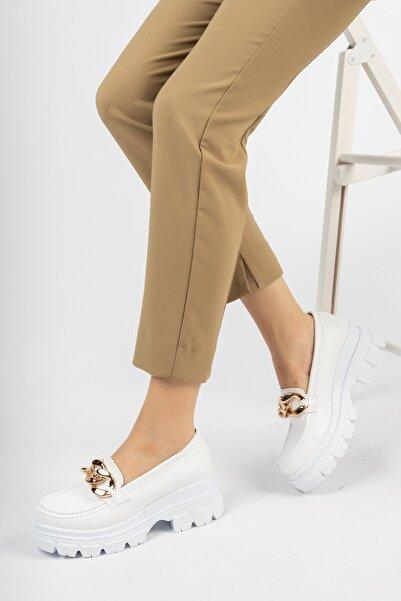 Moda Değirmeni Kadın Tokalı Ayakkabı Md1096-112-0001