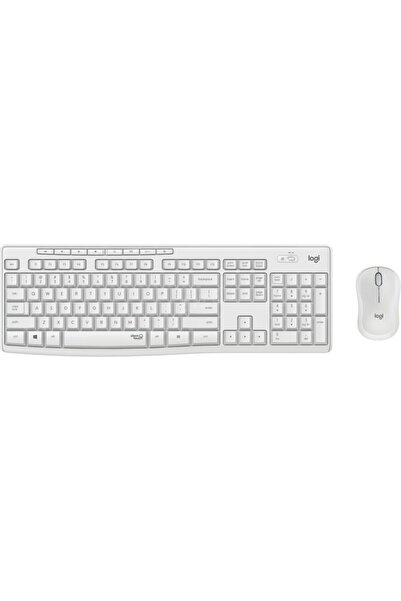 logitech Mk295 Kablosuz Sessiz Klavye Mouse Set Beyaz 920-010089