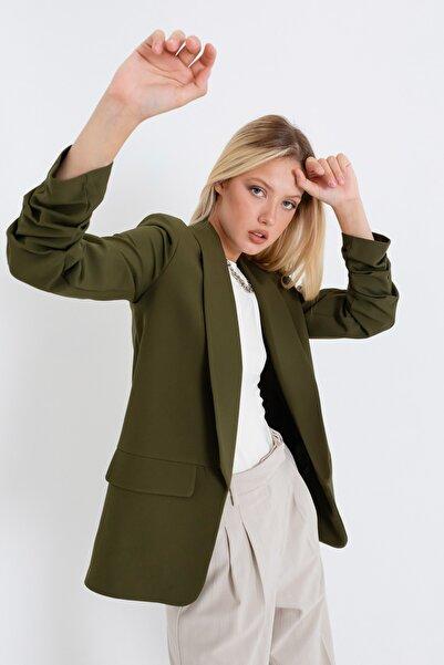 Lafaba Kadın Haki Blazer Ceket