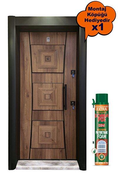 Tezdoor Çelik Kapı, Siyah Kasalı Kabartmalı Model Daire Kapısı, Tırnaklı Sistem Çelik Kapı