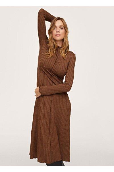 MANGO Woman Fitilli Örme Elbise