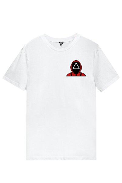 Netflix Squıd Game Baskılı Kısa Kollu Beyaz Gamer Tişört