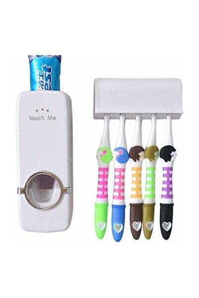 Alz Banyo Otomatik Diş Macunu Sıkacağı 5 Adet Fırçalık Fma00026