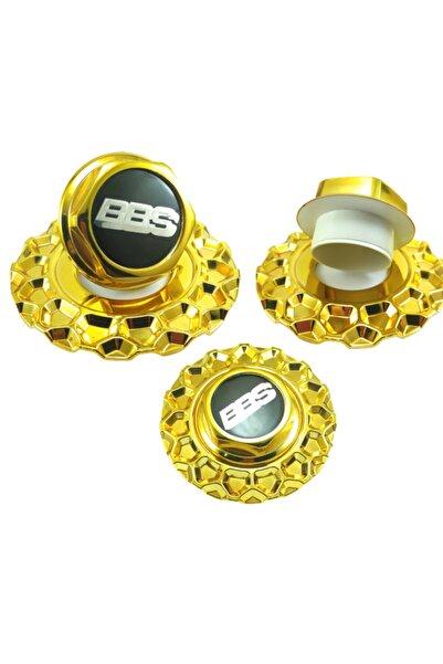 Kapak Dünyası Rs2 Krom Jant Göbeği 16'' 17'' 18'' Uyumludur. Gold&black 4'lü Takım