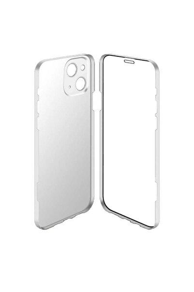 Apple Iphone 13 Kılıf Ultra Ince Darbe Emici Kamera Koruyuculu Tam Koruma 360 Led Kapak