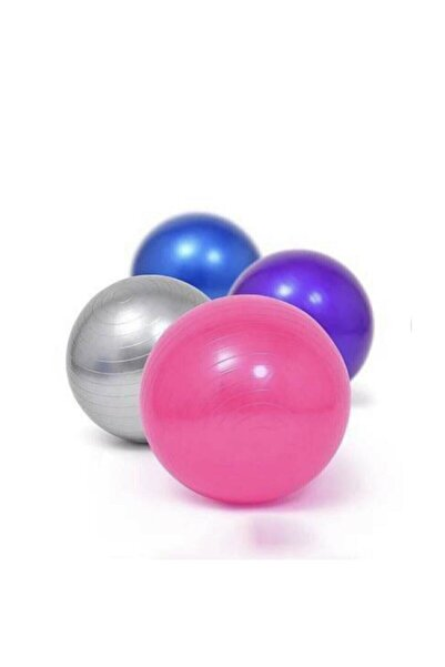 AYLA STAND Delux 20 Cm Mor Pilates Topu Jimnastik Yoga Plates Egzersiz Topu Mor