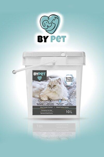 BYPET Bentonit Kedi Kumu Bebek Pudrası Kokulu Ince Tane Topaklanan Kedi Kumu 10 Lt