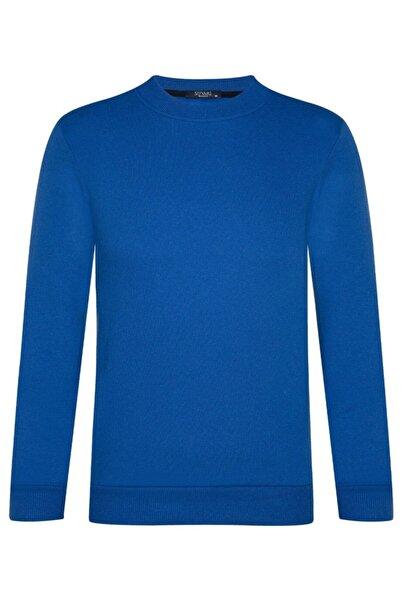 SÜVARİ O Yaka Iki Iplik Mavi Sweatshirt