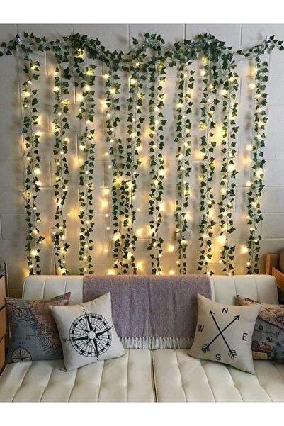 casadilegno Dekoratif Yeşil Yapraklı Yapay Sarmaşık Ve 3 Metre Peri Led Gün Işığı (PİL FİYATA DAHİL)