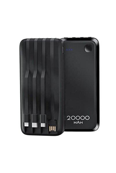 Konfulon A23s 20.000 Mah Lcd Ekranlı 3 Farklı Şarj Kablolu Taşınabilir Powerbank