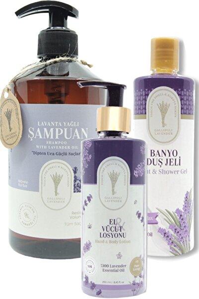 Dr. Lavender Kepek Önleyici Lavanta Yağlı Şampuan 500 Ml + Duş Jeli 400 Ml + 250 Ml El Vücut Kremi