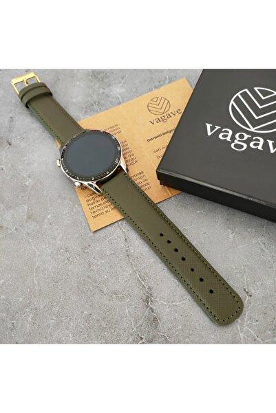 vagave Huawei Watch Deri Kordon Gt / Gt2 / Gt2e / Gt2pro / Gt3 / Gt3 Pro 46mm El Yapımı 8 Farklı Renk