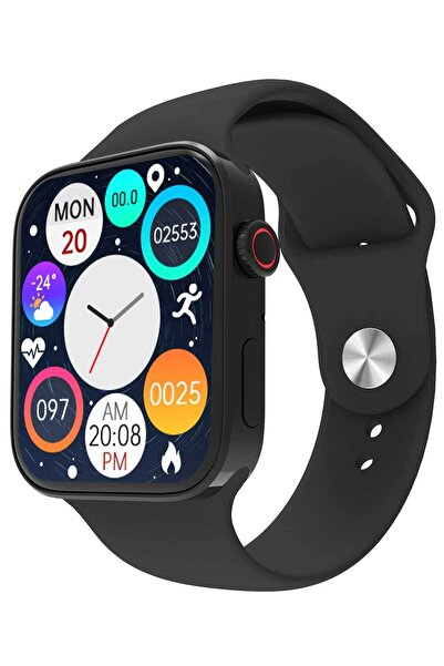 Favors Watch 7 Pro Max Smartwatch Yeni Kasa Çift Tuş Aktif Konuşma Özellikli Türkçe Siyah Akıllı Saat