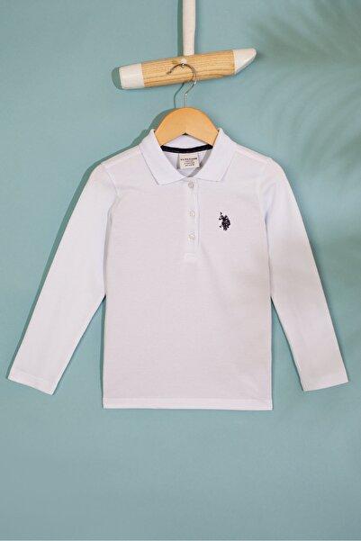U.S. Polo Assn. Beyaz Kız Çocuk Sweatshirt
