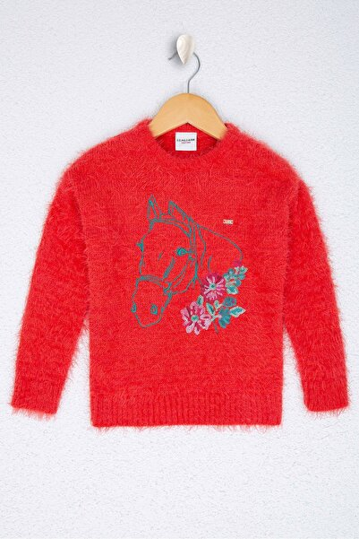 U.S. Polo Assn. Kırmızı Kız Cocuk Triko Kazak