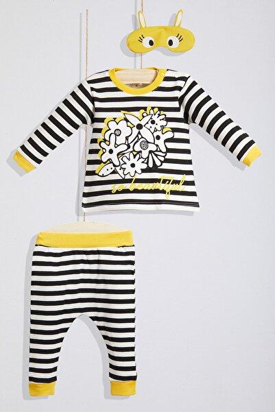 Wogi %100 Pamuk Uyku Gözlüklü Pijama Takımı