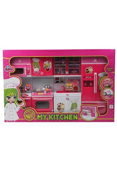 VARDEM OYUNCAK Işıklı Kutulu 4lü Modern Mutfak Seti Oyuncak