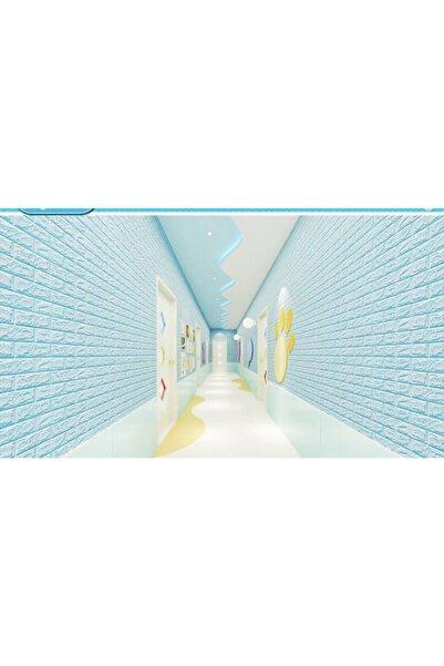Renkli Duvarlar Nw05 Açık Mavi Tuğla Arkası Yapışkanlı Esnek Silinebilir Duvar Paneli 3d Duvar Kağıdı
