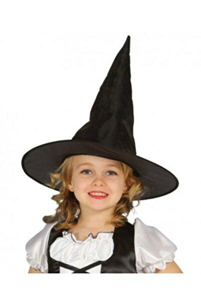 Samur Halloween Siyah Cadı Şapkası