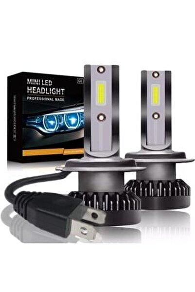 Mini Zenon H7 Led 2 Adet Şimşek Etkili Led Zenon 8000 Lümen 38 W Süper Güçlü Beyaz Işık