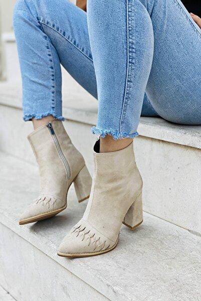 Mida Shoes Bayan Vizon Süet Bot