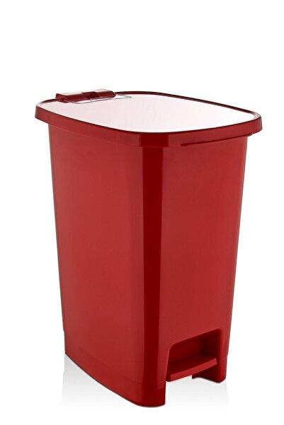 ASlife 25 Lt Slim Pedallı Çöp Kovası Kırmızı