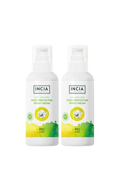 Incia Body Protective Spray Cream Sinek Kovucu 100 ml 2'li Set