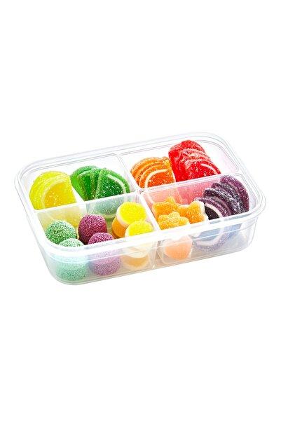 LoveQ Fresh Box Dikdörtgen 4 Bölmeli Saklama Kabı Şeffaf