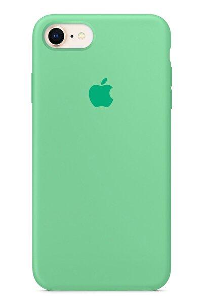 """Cekuonline Iphone 6s Plus 5.5"""" Logolu Lansman Kılıf Altı Kapalı Iç Kısmı Kadife - Yeşil"""
