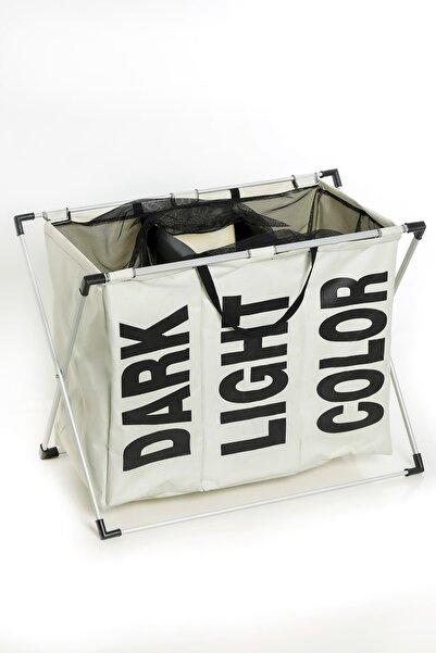 MHK Collection Katlanabilir Pratik Organizer 3 Bölmeli Çamaşır Sepeti